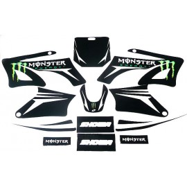 Kit déco Dirt bike Monster vert pour AGB 27/orion/sohoo/99