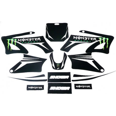 kit d co dirt bike monster vert pour agb 27 orion sohoo 99 pi ces quad dirt. Black Bedroom Furniture Sets. Home Design Ideas
