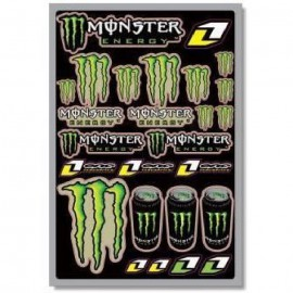 Planche de stickers monster energy one industrie