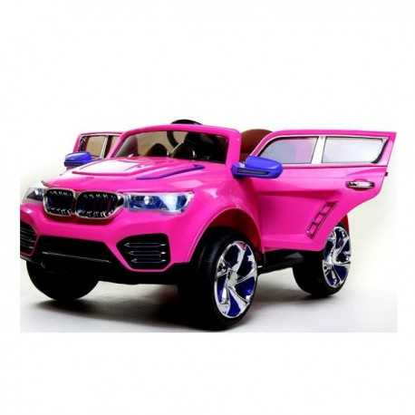 voiture enfant style 4x4 bmw rose electrique 12v pi ces. Black Bedroom Furniture Sets. Home Design Ideas