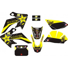 Kit déco Dirt bike CRF-50 ROCKSTAR Jaune