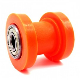 Roulette de Chaine axe 8mm orange