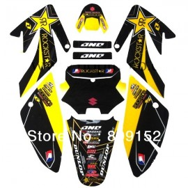 Kit déco Dirt bike CRF-70 Rockstar Jaune