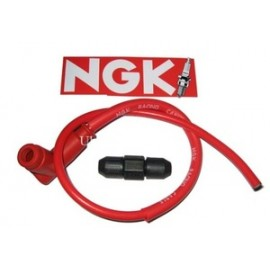 Cable + antiparasite NGK rouge