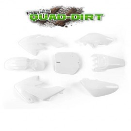 Carénage dirtbike/pitbike type CRF 50 blanc