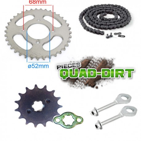 kit chaine d'origine quad, dirt bike